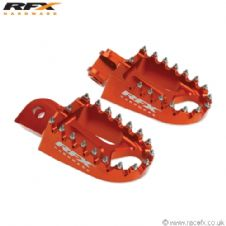 Racefx Trick Wide Footpegs Orange KTM